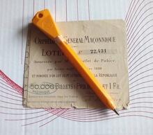 FRANC MACONNERIE BILLET DE LOTERIE ORPHELINAT GENERAL MACONNIQUE Fin XIXe Th. De SERRES - Billets De Loterie