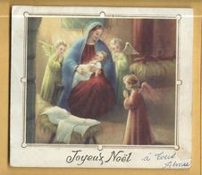 Lettre Joyeux Noël ( Avec Créche En Dépliant à L'intérieur ) - Crèches De Noël