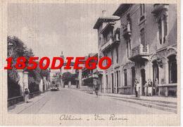 ALBINO - VIA ROMA F/GRANDE VIAGGIATA 1943 ANIMATA CON TRAM - Bergamo