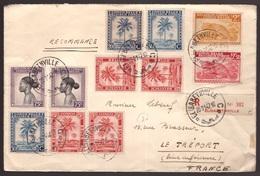 Congo Belga, Raccomandata Pluriaffrancata Del 1947 Per La Francia           -CL94 - Congo - Brazzaville