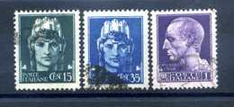 1945 LUOGOTENENZA SET USATO 526/528 Senza Filig. - Usados