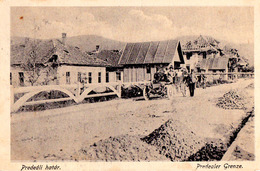 PREDEAL / BRASOV : PREDEÁLI HATÁR / PREDEALER GRENZE / BORDER / FRONTIÈRE - AUTOMOBILE ~ 1910 - '915 - RRR ! (ae172) - Roumanie
