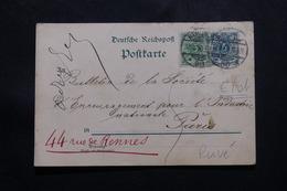 ALLEMAGNE - Entier Postal Avec Repiquage Au Verso + Complément De Berlin Pour Paris En 1898 - L 54761 - Ganzsachen