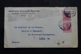 ALLEMAGNE - Enveloppe Du Consulat Américain De Berlin Pour Paris En 1909 - L 54762 - Covers & Documents