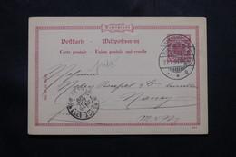 ALLEMAGNE - Entier Postal Commercial ( Repiquage Au Verso ) De Saarbrücken Pour La France En 1899 - L 54765 - Ganzsachen