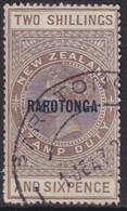 COOK ISLANDS 1921 SG #77 2sh6d Grey-brown Wmk Single Star Used CV £50 De La Rue Paper - Cookeilanden