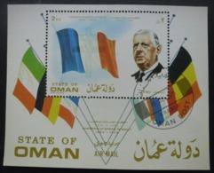 OMAN Bloc Général De Gaulle Oblitéré - Oman