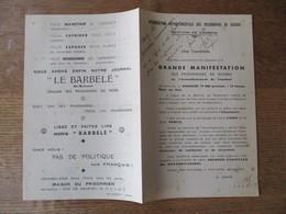 GRANDE MANIFESTATION DES PRISONNIERS DE GUERRE DE L'ARRONDISSEMENT DE CAMBRAI DIMANCHE 19 MAI PLACE AUX BOIS ASSOCIATION - Documents Historiques
