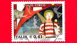 ITALIA - 2002 - Usato - Europa - 47ª Emissione - Circo - Pagliaccio, Acrobati Ed Elefante - 0.41 - 6. 1946-.. Repubblica