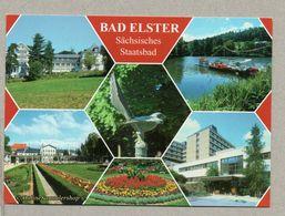 "BRD - AK : Bad Elster / Haus ""Weiße Elster"", Gondelteich, Badeplatz, Vogtlandklinik - Bad Elster"