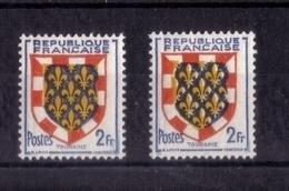 N°  902 (timbre Normal Et Variété Couleur Jaune Décallée)  NEUF** - Variétés Et Curiosités