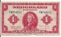 PAYS-BAS 1 GULDEN 1943 VG+ P 64 - 1 Gulden