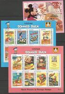 3 Pcs GUYANA - GRENADA GRENADINES - MNH - Walt Disney - Donald Duck - Disney