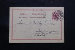 ALLEMAGNE - Entier Postal Avec Repiquage Au Verso De Berlin Pour La France En 1899  - L 54788 - Ganzsachen