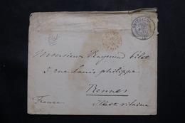 ESPAGNE - Enveloppe Avec Belle Oblitération De Guipuzcoa Pour La France En 1879 - L 54789 - 1875-1882 Royaume: Alphonse XII
