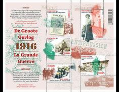 Belgium 2016 - World War I (Part 3) Souvenir Sheet Mnh - Ungebraucht