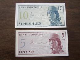 INDONESIE 5 ET 10 SEN 1964 UNC - Indonesië