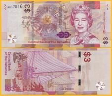 Bahamas3 Dollars P-new 2019 UNC Banknote - Bahamas