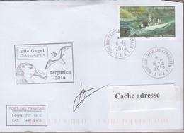 TAAF PLI KERGUELEN 16 12 2013 Sur TP 660 Ornithoker 64 Signé - Non Classificati