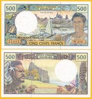 French Pacific Territories 500 Francs P-1h 2009 UNC Banknote - Französisch-Pazifik Gebiete (CFP)