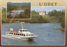 """CPM 29 LES RIVES DE L'ODET Vedette """"Aigrette"""" Sur La Plus Belle Rivière De France - France"""