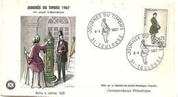 France 31 TOULOUSE Enveloppe 1er Jour FDC 1967 Journée Du Timbre Boîte Aux Lettres 1850 - 006 - FDC