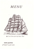MENU  MARINE NATIONALE-COMMANDEMENT EN MER ROUGE ET OCEAN INDIEN NORD - Documents
