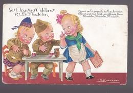 Cpa  Illustrateur Mauzan Enfants  Humours   Thème: Les Chansons Célèbres N° 1 La Madelon Usure Pourtour De La Carte - Mauzan, L.A.