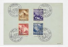 Deutsches Reich 1941 Eingliederung Steiermark Mi.806-809 Sonderstempel 4x Verschieden, Deutsch Für Immer - Lettres & Documents