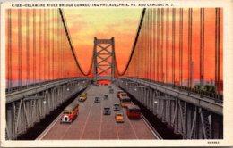 New Jersey Camden Delaware River Bridge Curteich - Camden