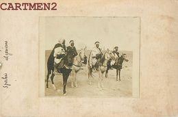 PHOTOGRAPHIE ANCIENNE GUERRE  SPAHIS ALGERIENS CAVALIERS ARABES Haverskerque - Guerra, Militares