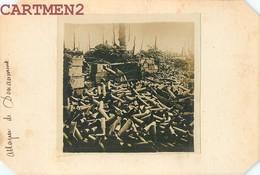 PHOTOGRAPHIE ANCIENNE GUERRE ATTAQUE DU FORT DE DOUAUMONT 55 MEUSE OBUS - Guerra, Militares
