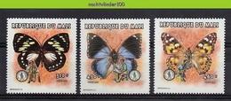 Nfb031 FAUNA VLINDERS PADVINDERIJ SCOUTING BUTTERFLIES SCHMETTERLINGE MARIPOSAS PAPILLONS QWMA 1998 PF/MNH - Butterflies