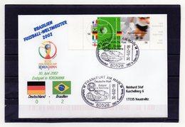 BRD, 2002, Brief (echt Gelaufen) Mit Miche 2258/59 Und Sonderstempel, Fußball-WM Japan/Korea, Weltmeister Brasilien - Covers