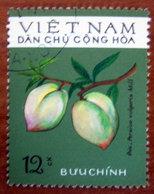 VIETNAM 1975 Frutti Peach (Persica Vulgaris Mill) Pesca - Usato - Vietnam