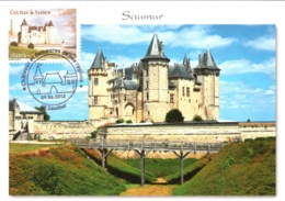 Carte Maximum YT Adh AA717 Château De Saumur 1er Jour 09 06 2012, Saumur 49 Parfait état (BC714) - 2010-...