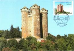 Carte Maximum YT Adh AA718 Château D'Anjony à Tournemire 1er Jour 09 06 2012, Tournemire 15 Parfait état (BC714) - Cartes-Maximum