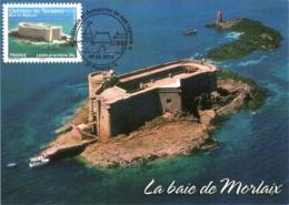 Carte Maximum YT Adh AA725 Château Du Taureau, Baie De Morlaix 1er Jour 09 06 2012, Plouézoc'h 29 Parfait état (BC714) - Cartes-Maximum