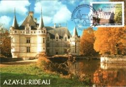 Carte Maximum YT Adh AA727 Château D'Azay-le-Rideau 1er Jour 09 06 2012, Azay-le-Rideau 37 Parfait état (BC726) - Cartes-Maximum