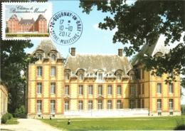 Carte Maximum YT Adh AA732 Château De Brémontier-Merval 10 10 2012, Gournay-en-Bray 76 Parfait état (BC726) - Maximum Cards