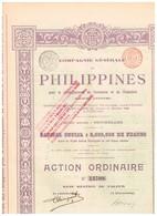 Titre Ancien - Compagnie Générale Des Philippines Pour Le Développement Du Commerce Et De L'industrie  - Titre De 1899 - Industrie