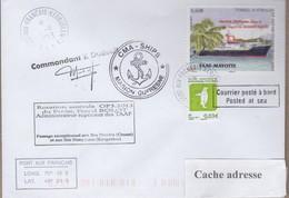 TAAF PLI KERGUELEN  13 11 2013 SUR TP 601 + 707 Posté à Bord MARION DUFRESNE Signé Cachets Divers Recto Verso - Französische Süd- Und Antarktisgebiete (TAAF)