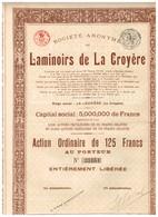 Titre Ancien - Société Anonyme Des Laminoirs De La Croyère - Titre De 1922 - Industrie