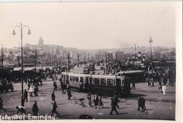 Carte Photo  / Istanbul  Eminonu (Turquie)  Bazar  Tramways     Editions ??  Toilée   Rare - Turquie