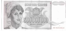 YUGOSLAVIA=1993    500.000.000  DINARS    P-125             UNC - Yugoslavia
