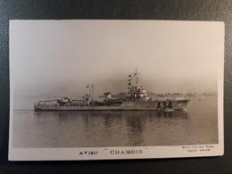AVISO CHAMOIS BATIMENT DE GUERRE A34 MARINE TOULON - Guerra