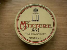 Old Tin Box Dunhill Mixture  United Kingdom London - Cajas Para Tabaco (vacios)
