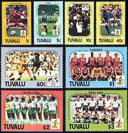 TUVALU 1986 World Cup Soccer Football SPECIMEN SET:8 - 1986 – Mexico
