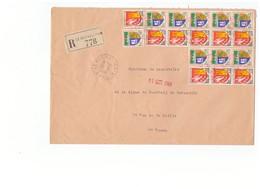 1966 Lettre Recommandée Pli Recommandé Vignette Le Bec Hellouin Cachet Obliteration 27 Eure - 1961-....