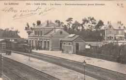 *** 76 *** LES IFS  La Gare Embranchement Pour Etretat Et Le Train - Locomotive Vapeur - TTB  Précurseur Timbré - Other Municipalities